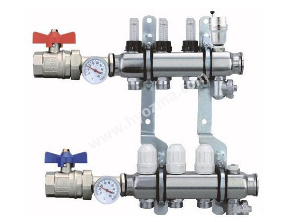 3-Branch Stainless Steel Manifold set